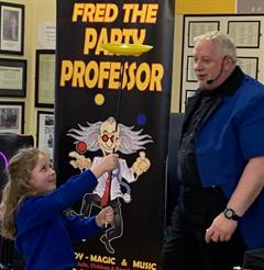 Visit from Fred the Magician